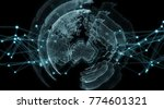 connections system sphere... | Shutterstock . vector #774601321