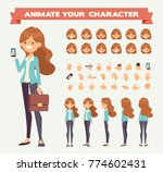business lady with phone and... | Shutterstock .eps vector #774602431