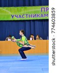 Small photo of Orenburg, Russia, 26-27 May 2017 : Juniors compete in sports acrobatics at the Open Championship in sports acrobatics