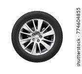 modern car wheel on light alloy ... | Shutterstock . vector #774604855