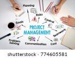 project management concept.... | Shutterstock . vector #774605581