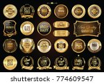 luxury retro badges gold and... | Shutterstock .eps vector #774609547