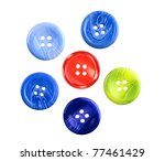 multicolored buttons isolated... | Shutterstock . vector #77461429