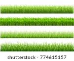 a set of green grass varieties. ...   Shutterstock .eps vector #774615157