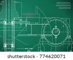 engineering illustrations.... | Shutterstock .eps vector #774620071