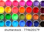 bright colors in jars... | Shutterstock . vector #774620179