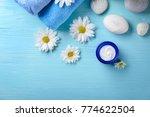 Jar Of Body Cream And Flowers...