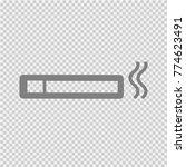 cigarette vector icon eps 10. | Shutterstock .eps vector #774623491