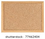 Cork Board Isolated Over White...