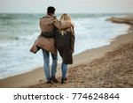 Back View Of A Young Couple In...