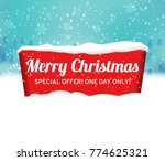 christmas background with red... | Shutterstock .eps vector #774625321