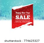 christmas sale background with...   Shutterstock .eps vector #774625327
