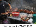 grilled pork  one of most... | Shutterstock . vector #774629329