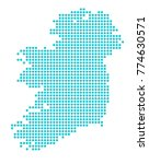 map of ireland. abstract... | Shutterstock .eps vector #774630571