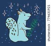 advent calendar. twenty four... | Shutterstock .eps vector #774631921