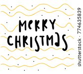 merry christmas and happy new... | Shutterstock .eps vector #774635839