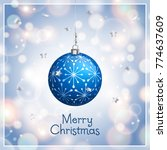 merry christmas and new year... | Shutterstock .eps vector #774637609
