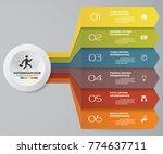 6 steps infographics element... | Shutterstock .eps vector #774637711