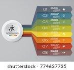 8 steps infographics element...   Shutterstock .eps vector #774637735
