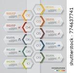 10 steps timeline infographic... | Shutterstock .eps vector #774637741