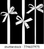 vector set of decorative silver ... | Shutterstock .eps vector #774637975