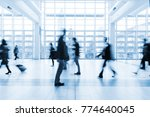 blurred people walking in a... | Shutterstock . vector #774640045