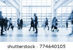 blurred people walking in a... | Shutterstock . vector #774640105