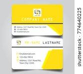 modern yellow white black theme ... | Shutterstock .eps vector #774640225