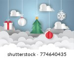 happy new year and merry... | Shutterstock .eps vector #774640435
