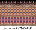 close up the seamless pattern... | Shutterstock . vector #774649141