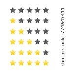 different star icons vector set | Shutterstock .eps vector #774649411