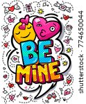 Be Mine Word Bubble. Message I...