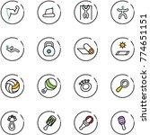 line vector icon set   power... | Shutterstock .eps vector #774651151