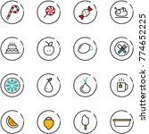 line vector icon set   lollipop ... | Shutterstock .eps vector #774652225