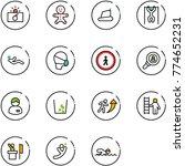 line vector icon set  ... | Shutterstock .eps vector #774652231