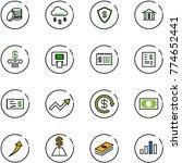 line vector icon set   coin...   Shutterstock .eps vector #774652441