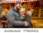 pleasant tryst at the christmas ... | Shutterstock . vector #774654421