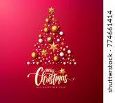 merry christmas calligraphic... | Shutterstock .eps vector #774661414