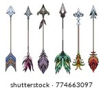 set of colored boho arrows.... | Shutterstock .eps vector #774663097