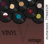 a beautiful vinyl record. music.... | Shutterstock .eps vector #774663139