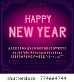 happy new year holiday. bright... | Shutterstock .eps vector #774664744