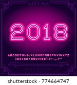2018 happy new year holiday.... | Shutterstock .eps vector #774664747