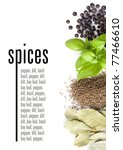 spices on white background.... | Shutterstock . vector #77466610