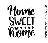 vector poster with phrase and... | Shutterstock .eps vector #774668035