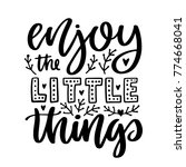 vector poster with phrase and...   Shutterstock .eps vector #774668041