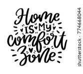 vector poster with phrase and... | Shutterstock .eps vector #774668044