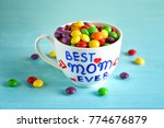 cup with text best mom ever and ... | Shutterstock . vector #774676879