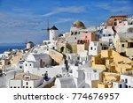 cityscape of santorini oia with ... | Shutterstock . vector #774676957