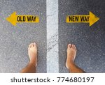 old way vs new way text on... | Shutterstock . vector #774680197