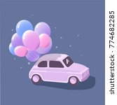 retro car with balloons | Shutterstock .eps vector #774682285